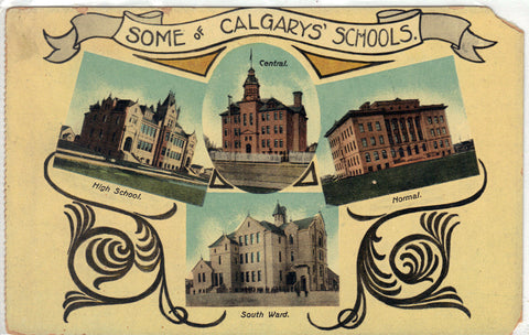 Some of Calgarys' Schools Post Card