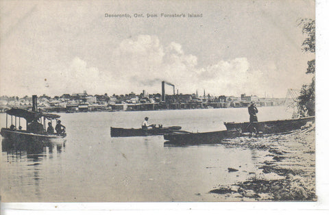 Deseronto,Ontario from Forester's Island - Vintage Postcard