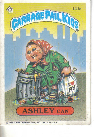 Garbage Pail Kids 1986 #141a Ashley Can