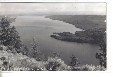 RPPC-Fremont Lake from The Skyline Drive-Wyoming 1952 - Cakcollectibles - 1