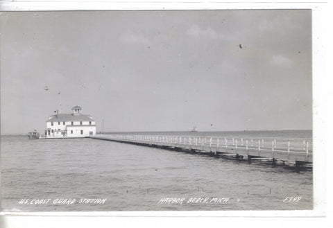 RPPC-U.S. Coast Guard Station-Harbor Beach,Michigan 1949 - Cakcollectibles - 1
