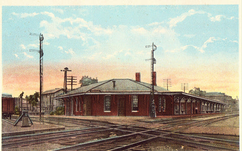 Vintage Postcard, Orrville, Ohio, Union Railroad Depot, ca 1920