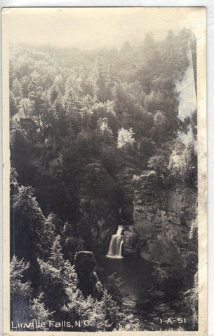 RPPC- Linville Falls - North Carolina Post Card - 1