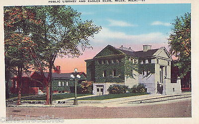 Public Library and Eagles Club-Niles,Michigan - Cakcollectibles - 1