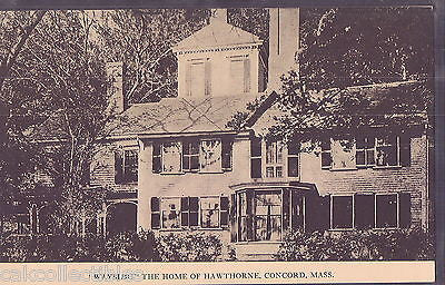 """Wayside"",The Home of Hawthorne-Concord,Massachusetts - Cakcollectibles"