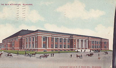 The New Auditorium-Milwaukee,Wisconsin 1909 - Cakcollectibles - 1