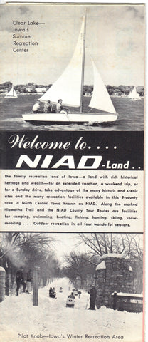 Vintage Welcome to Niad-land - Iowa Souvenir Brochure 1960's Brochure