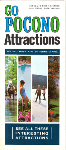 Pocono Attractions-Pocono Mountains of Pennsylvania Travel Brochure Brochure