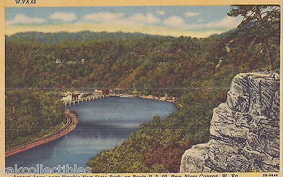 Lovers' Leap near Hawk's Nest State Park-New River Canyon,West Virginia - Cakcollectibles