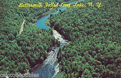 Aerial View-Buttermilk Falls-Long Lake,New York - Cakcollectibles