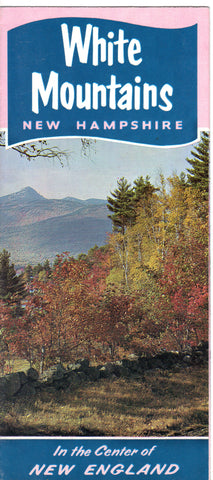 Vintage White Mountains- New Hampshire Souvenir Brochure Brochure