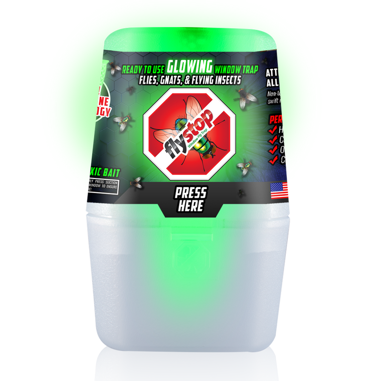 NEW GLOW Flystop Reusable Window Fly & Bug Trap