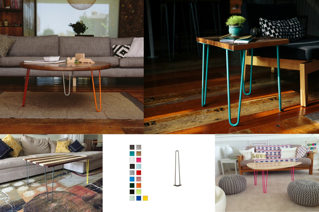 Colored Hairpin Table Legs