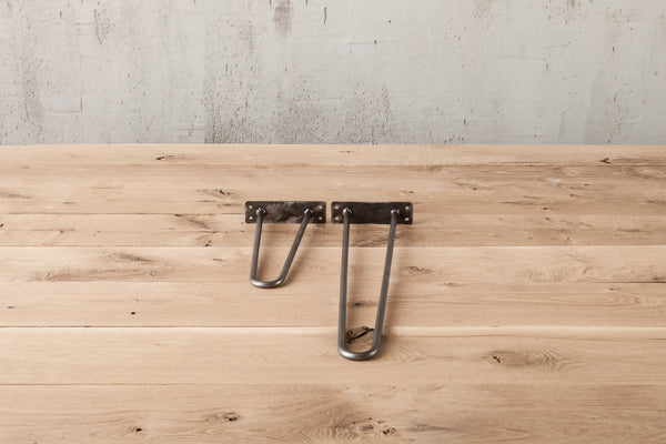 Hairpin Table Legs - 90 Degree Bottom