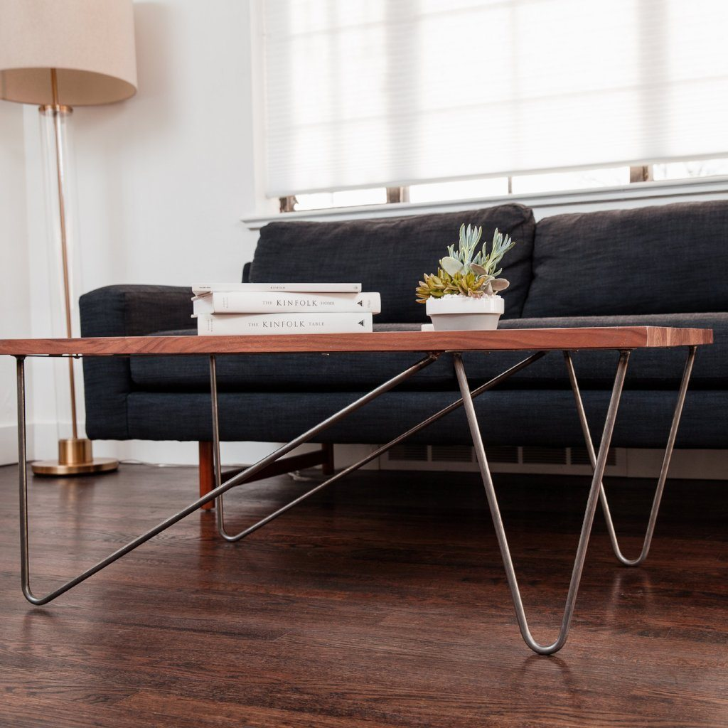 Offset Hairpin Coffee Table Leg Set
