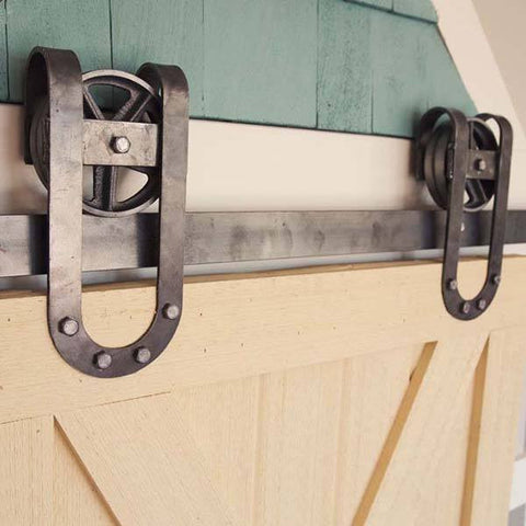 U Industrial Barn Door Hardware Kit