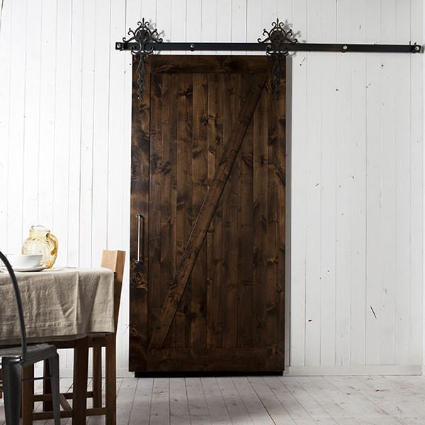 Intricate Barn Door Hardware Kit