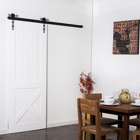 Intricate Minimal Barn Door Hardware Kit