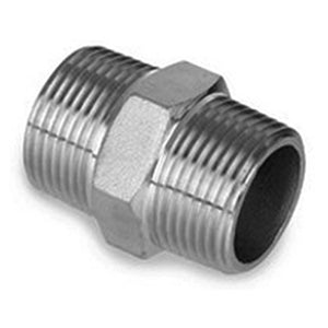1/2in MPT x 1/2in MPT Stainless Steel Hex Nipple