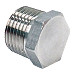 1/2in NPT Stainless Steel Hex Plug