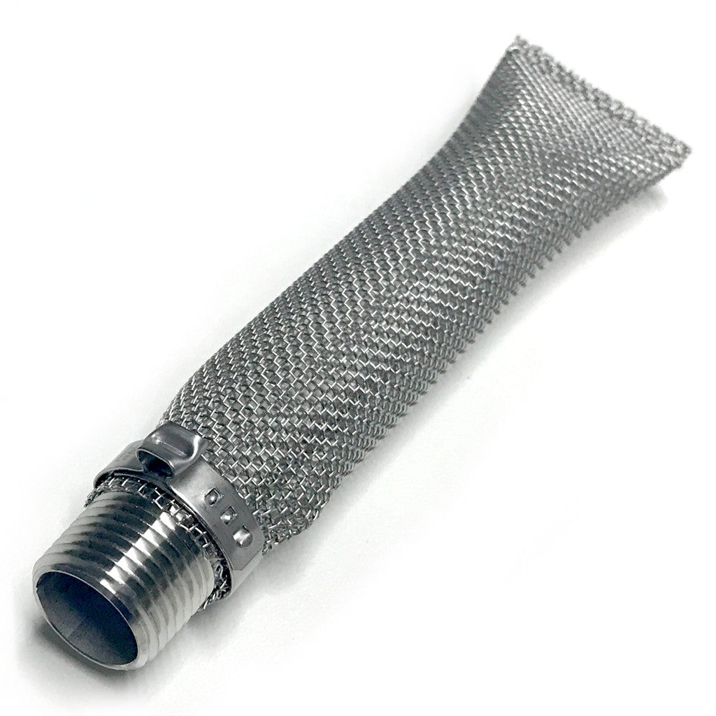 1/2in MPT x 6in Stainless Steel Torpedo Screen
