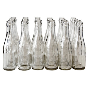187mL Clear Champagne Bottles - Case of 24
