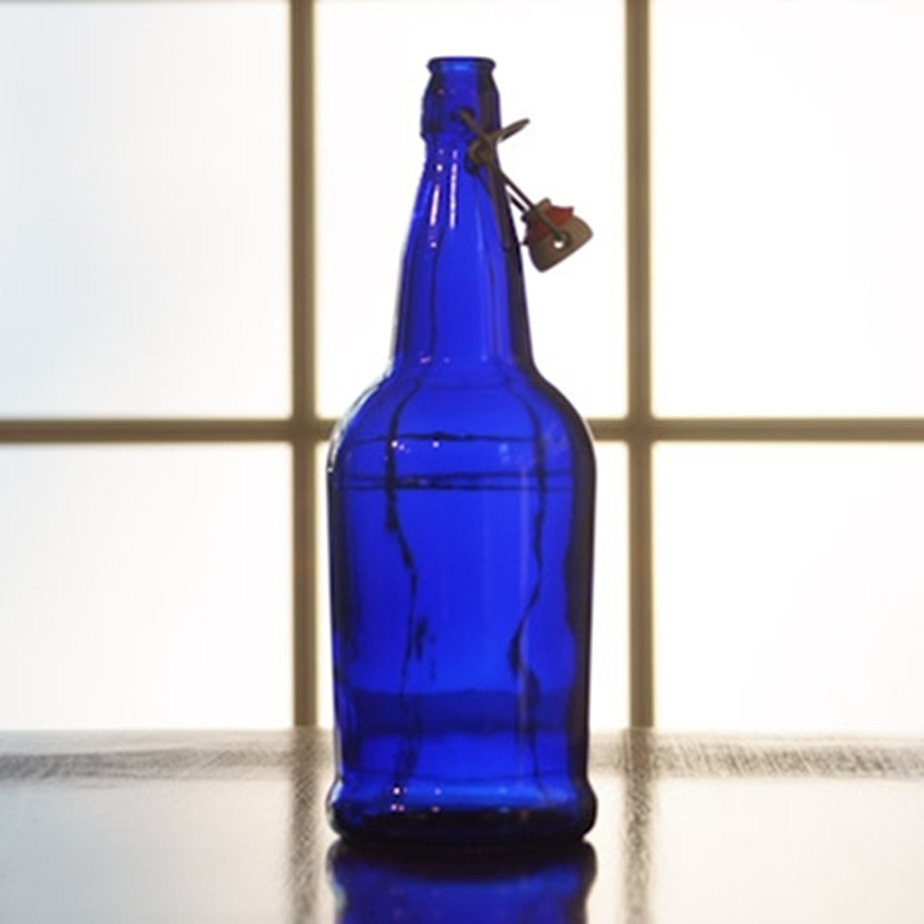 1 Liter EZ-Cap Blue Flip-Top Bottle