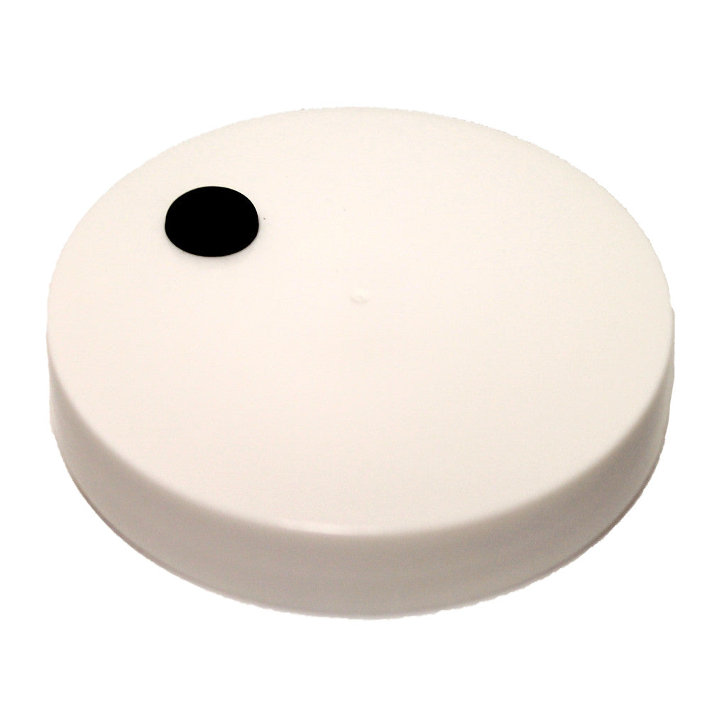 1 Gallon Wide Mouth Plastic Cap (110/400) with Hole and Grommet