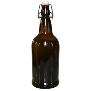 1 Liter Amber Flip-Top Bottle