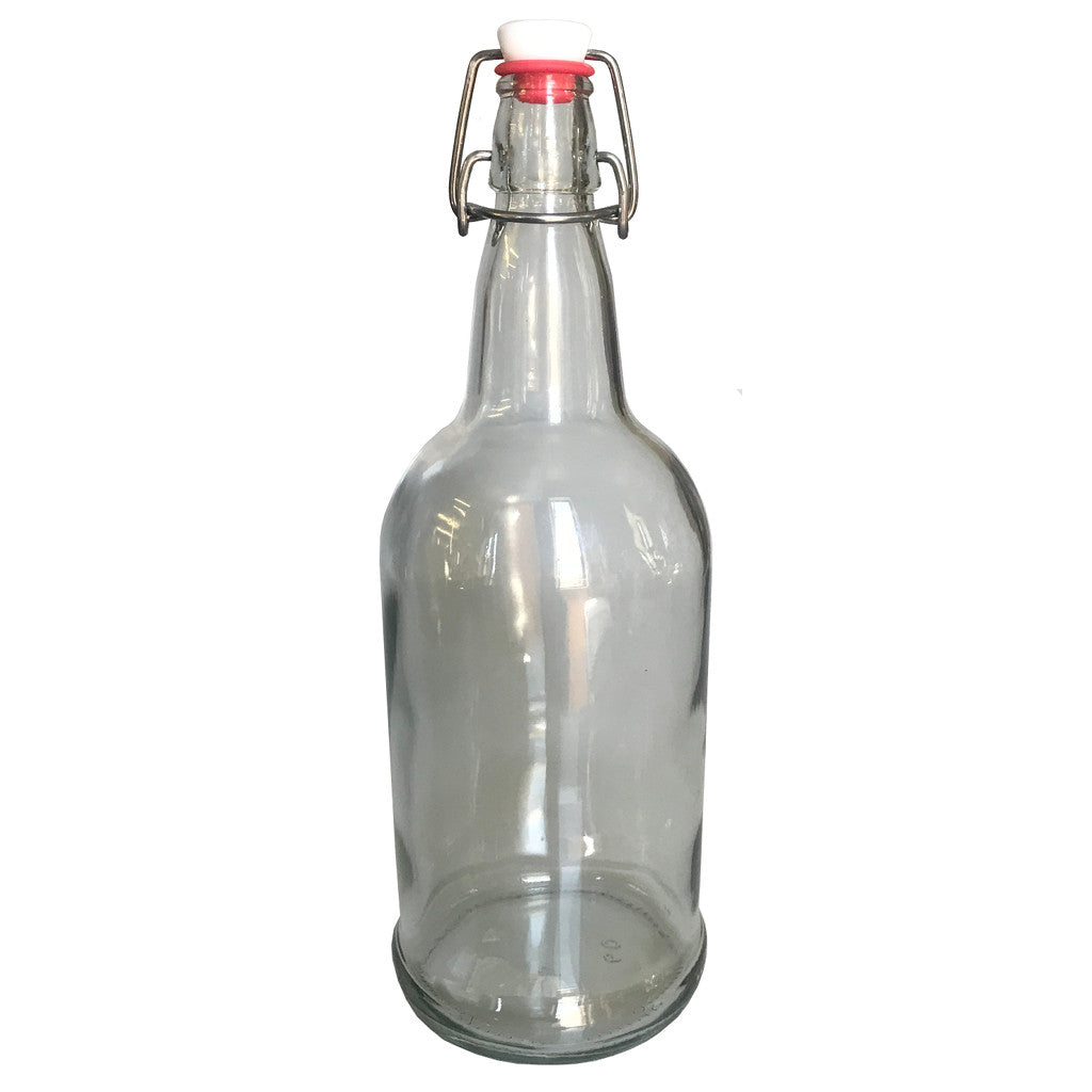 1 Liter Clear Flip-Top Bottle