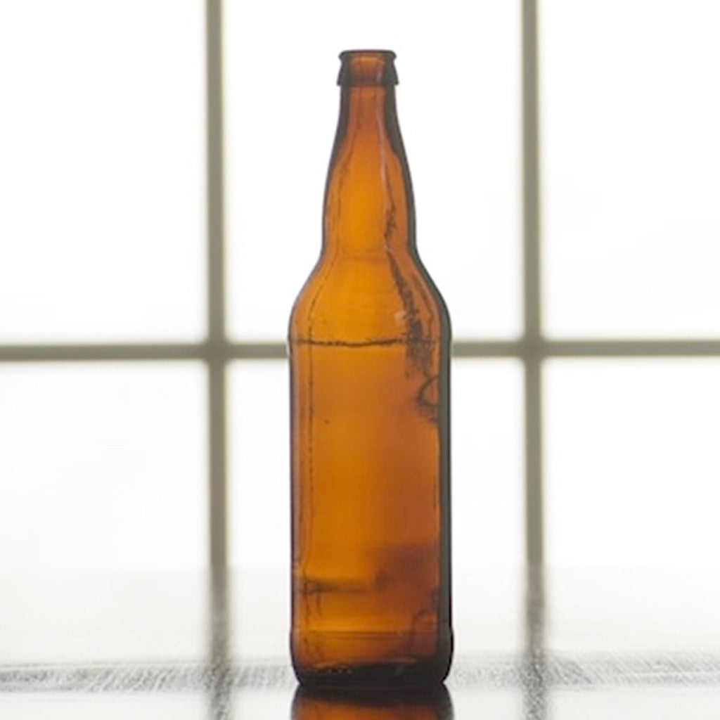 22oz Amber Beer Bottles - Case of 12