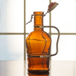 2 Liter Flip Top Growler With Metal Handle