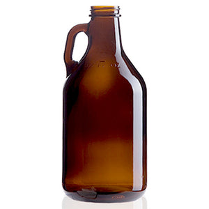 32oz Amber Mini Growler Glass Jug