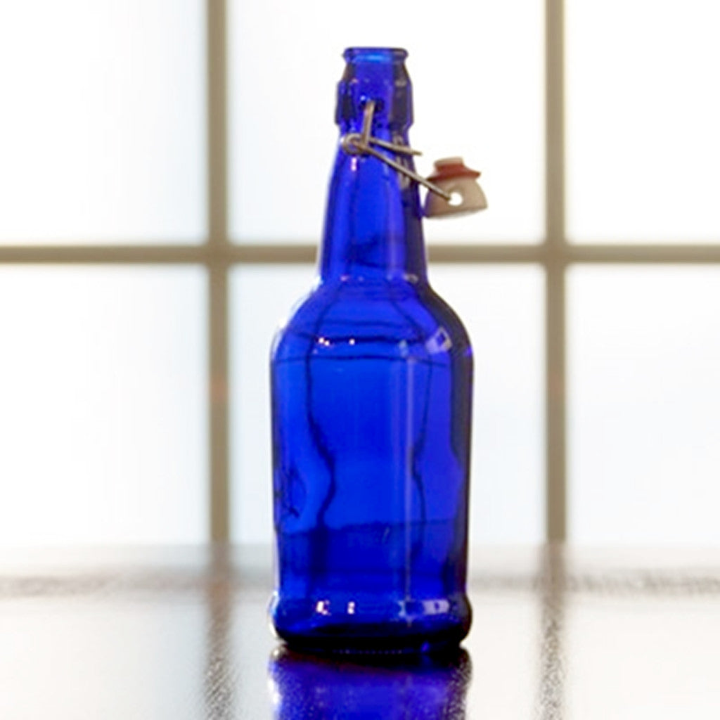 500mL Blue EZ-Cap Flip-Top Bottle