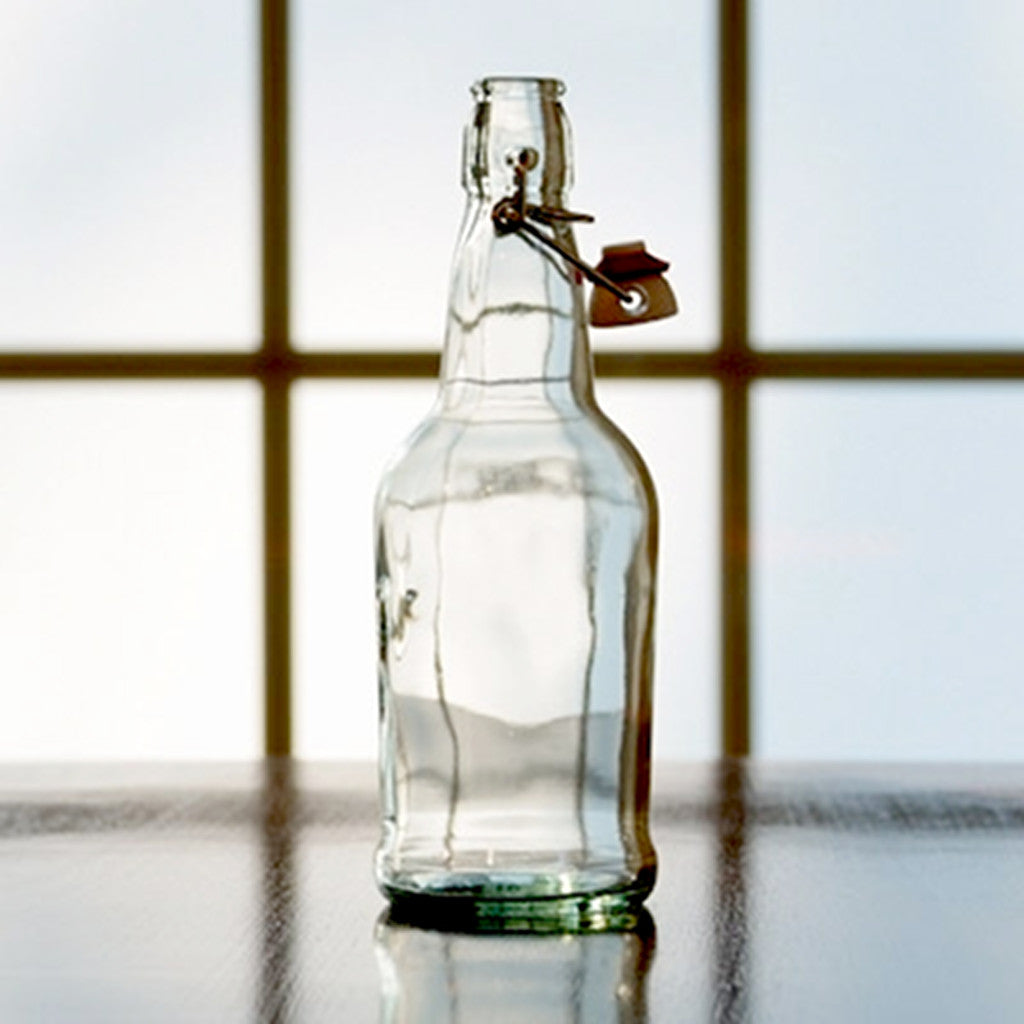 500mL Clear Flip-Top Bottle