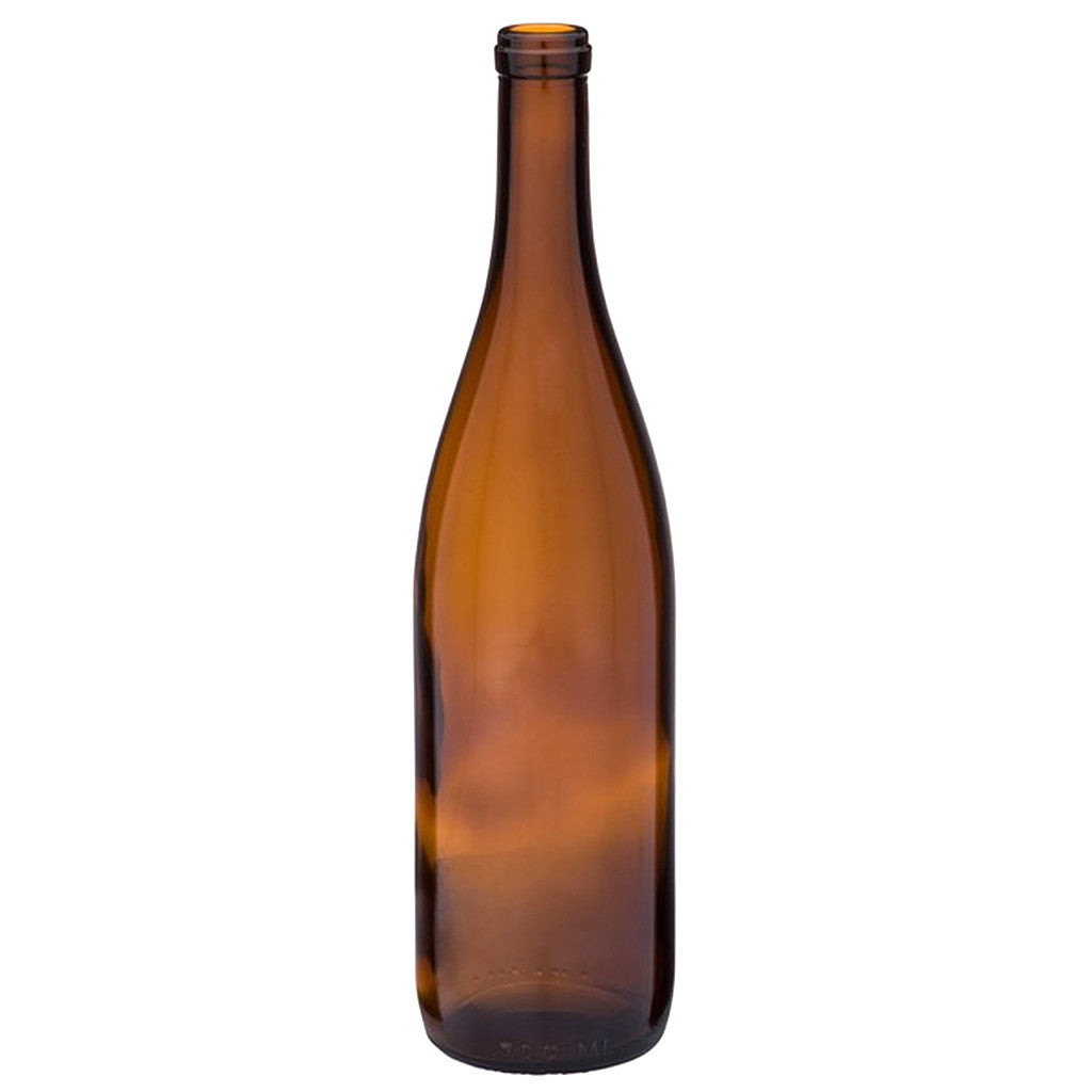 750mL California Amber Hock Wine Bottles - Case of 12