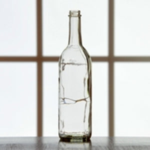 750mL Clear Screw-Top Bordeaux Wine Bottles - Case of 12