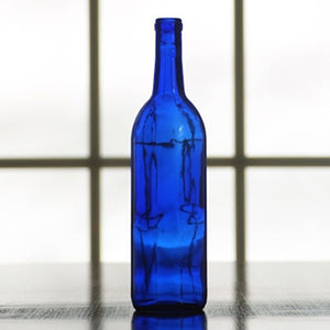 750mL Cobalt Blue Bordeaux Wine Bottle