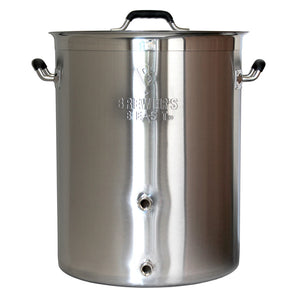 8 Gallon Brewer's Beast Kettle with 2 Ports and Lid