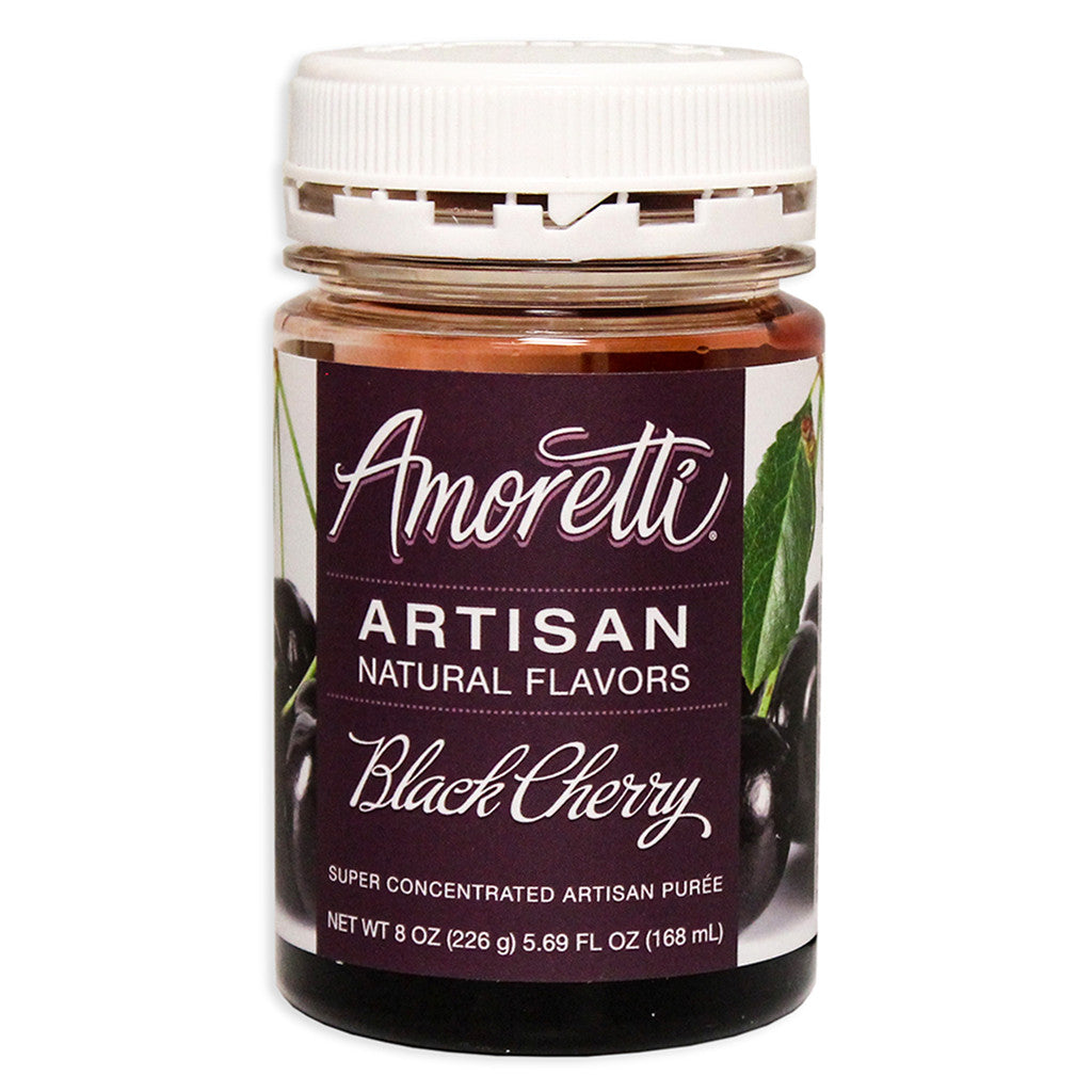 Amoretti Natural Black Cherry Artisan Flavor, 8oz