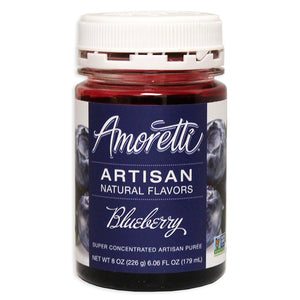 Amoretti Natural Blueberry Artisan Flavor, 8oz