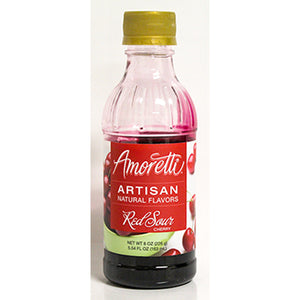 Amoretti Natural Red Sour Cherry Artisan Flavor, 8oz