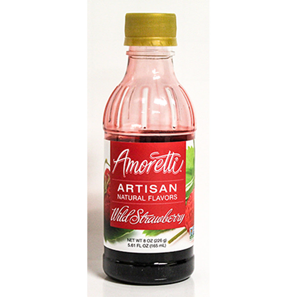 Amoretti Natural Wild Strawberry Artisan Flavor, 8oz
