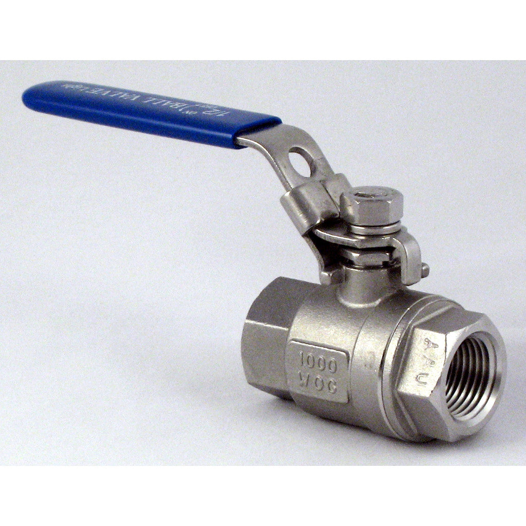 1/2in Stainless Steel Ball Valve (1000PSI/WOG/316SS)