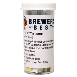 Brewer's Best Beer pH Test Strips (pH 4.6 - 6.2) - 100-Count