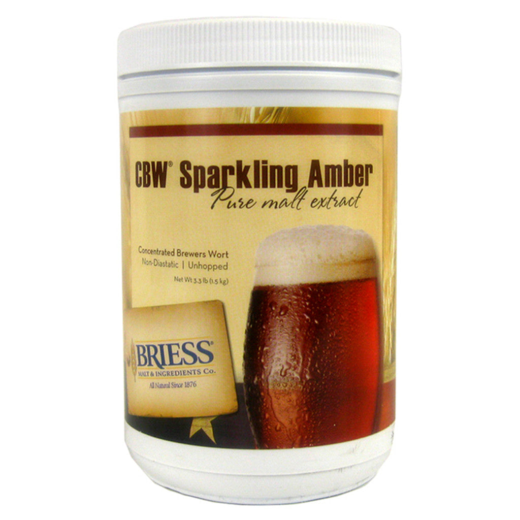 Briess Sparkling Amber Malt Extract, 3.3lb