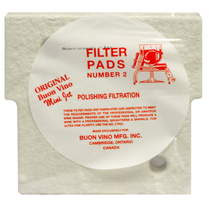 Buon Vino Mini Jet #2 Polish Filter Pad (1.8 micron) - 3-Pack