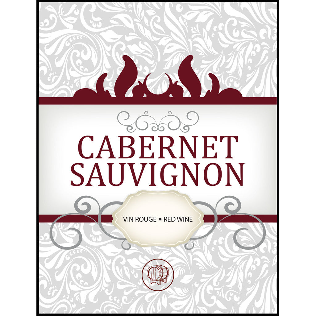 Cabernet Sauvignon Adhesive Wine Bottle Labels - 30-Pack