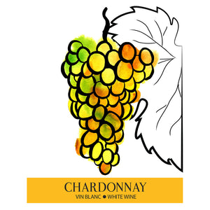 Chardonnay Wine Bottle Labels - 30-Pack