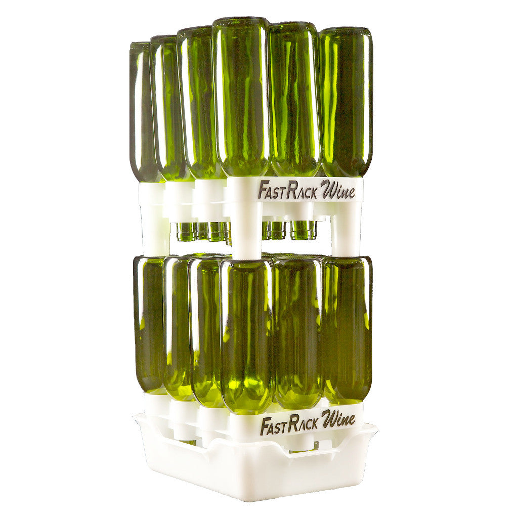 FastRack 24-Bottle Wine Rack and Tray Set (Includes 2 Racks and 1 Tray)